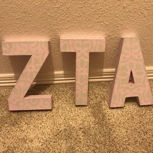 ZTA Cardboard Painted Letters